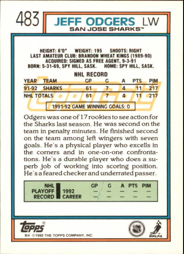1992-93-Topps-Gold-Inserts-Hockey-s-401-529-A3554-You-Pick-10-FREE-SHIP miniature 127