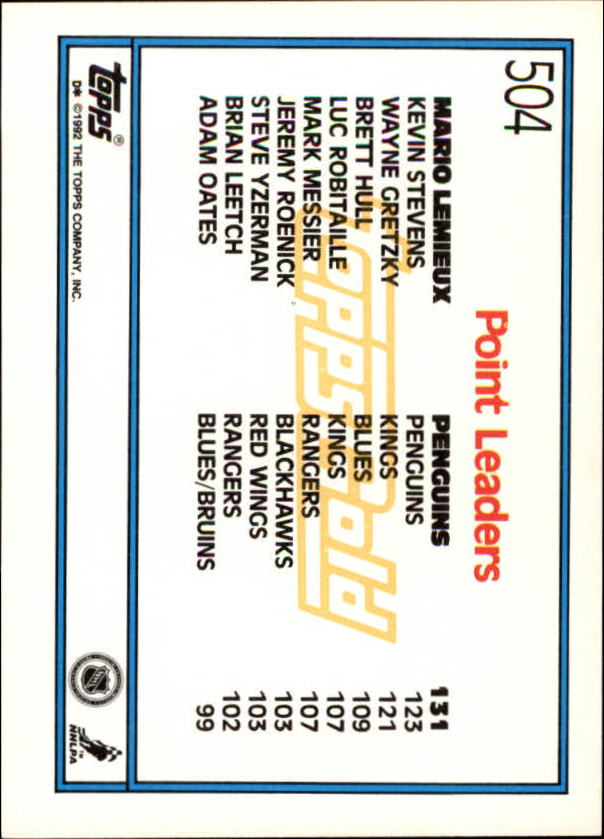 1992-93-Topps-Gold-Inserts-Hockey-s-401-529-A3554-You-Pick-10-FREE-SHIP miniature 150