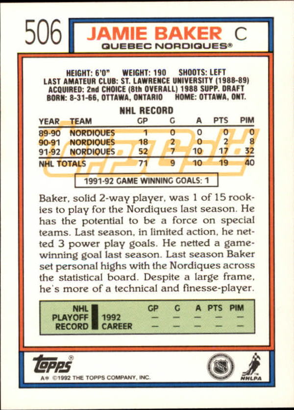 1992-93-Topps-Gold-Inserts-Hockey-s-401-529-A3554-You-Pick-10-FREE-SHIP miniature 154