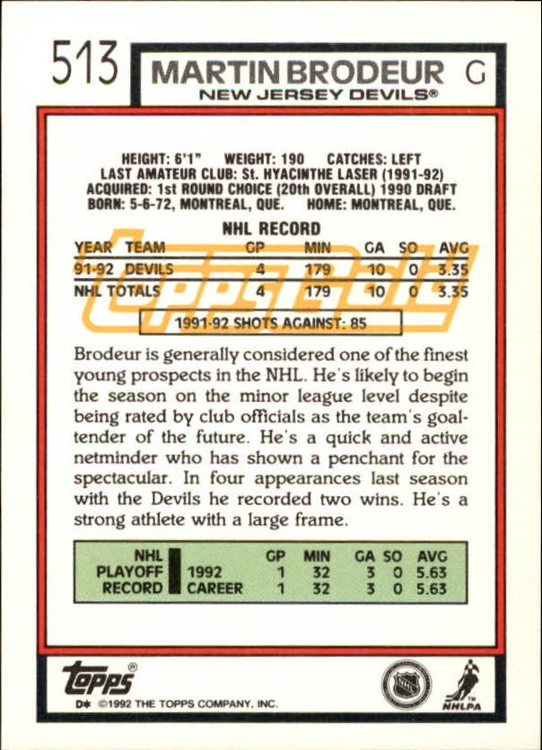 1992-93-Topps-Gold-Inserts-Hockey-s-401-529-A3554-You-Pick-10-FREE-SHIP miniature 164