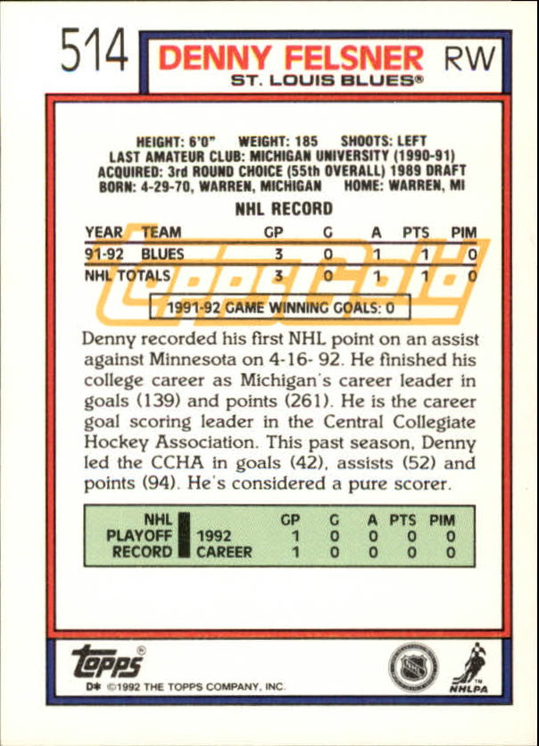1992-93-Topps-Gold-Inserts-Hockey-s-401-529-A3554-You-Pick-10-FREE-SHIP miniature 166