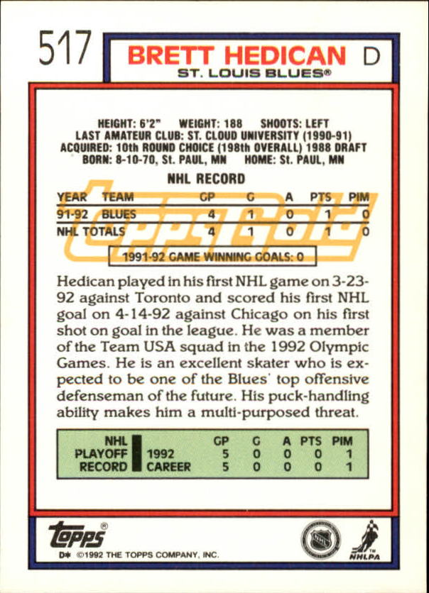 1992-93-Topps-Gold-Inserts-Hockey-s-401-529-A3554-You-Pick-10-FREE-SHIP miniature 172
