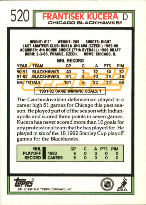 1992-93-Topps-Gold-Inserts-Hockey-s-401-529-A3554-You-Pick-10-FREE-SHIP miniature 176