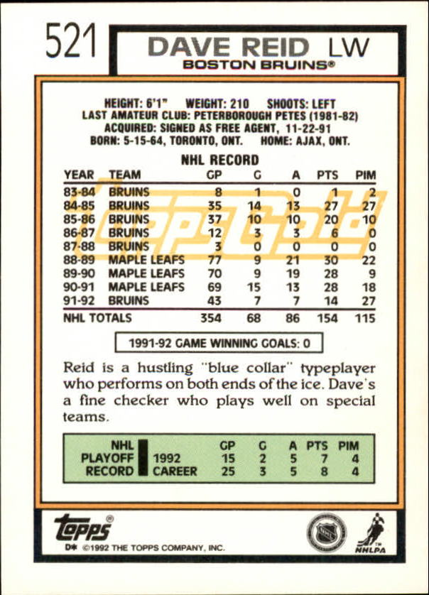 1992-93-Topps-Gold-Inserts-Hockey-s-401-529-A3554-You-Pick-10-FREE-SHIP miniature 178