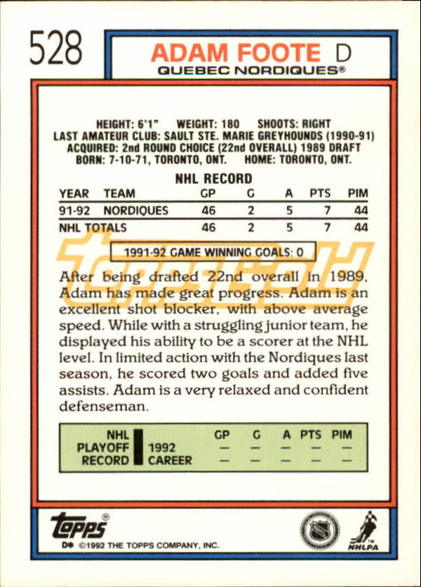 1992-93-Topps-Gold-Inserts-Hockey-s-401-529-A3554-You-Pick-10-FREE-SHIP miniature 190