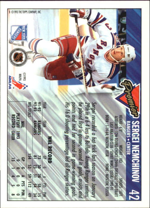 1993-94-Topps-Premier-Hk-s-1-250-Rookies-You-Pick-Buy-10-cards-FREE-SHIP thumbnail 83