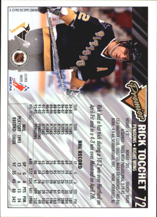 1993-94-Topps-Premier-Hk-s-1-250-Rookies-You-Pick-Buy-10-cards-FREE-SHIP thumbnail 139