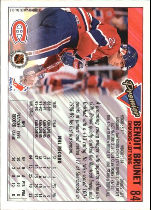 1993-94-Topps-Premier-Hk-s-1-250-Rookies-You-Pick-Buy-10-cards-FREE-SHIP thumbnail 162