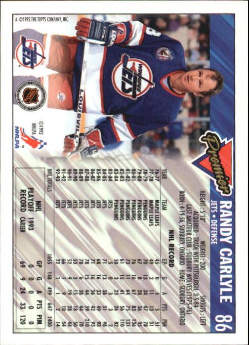 1993-94-Topps-Premier-Hk-s-1-250-Rookies-You-Pick-Buy-10-cards-FREE-SHIP thumbnail 165