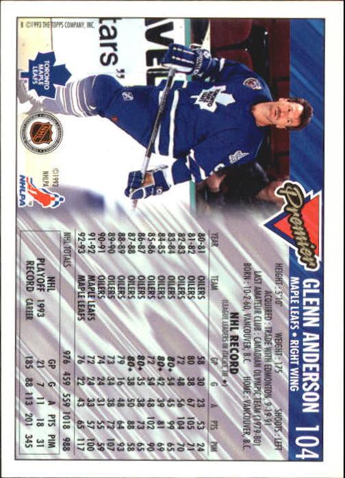 1993-94-Topps-Premier-Hk-s-1-250-Rookies-You-Pick-Buy-10-cards-FREE-SHIP thumbnail 197