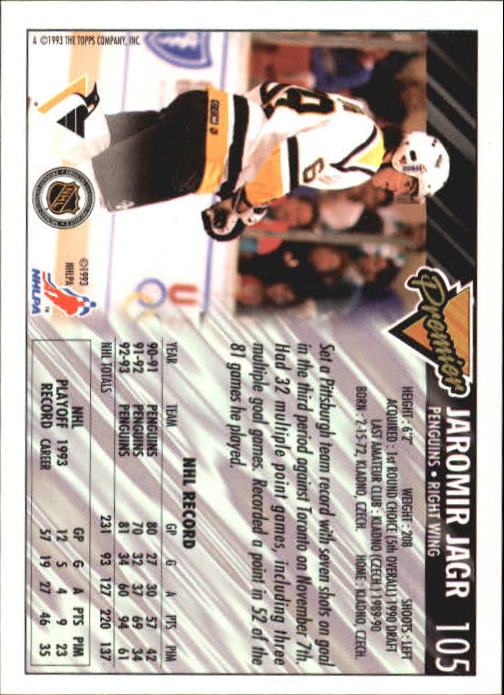 1993-94-Topps-Premier-Hk-s-1-250-Rookies-You-Pick-Buy-10-cards-FREE-SHIP thumbnail 199