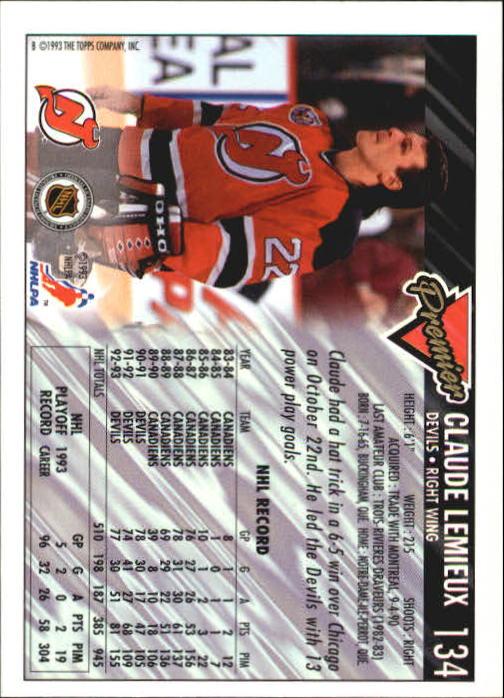 1993-94-Topps-Premier-Hk-s-1-250-Rookies-You-Pick-Buy-10-cards-FREE-SHIP thumbnail 254