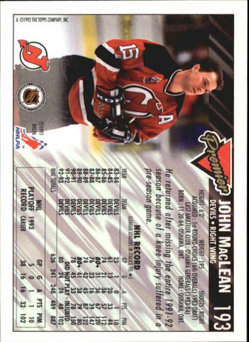 1993-94-Topps-Premier-Hk-s-1-250-Rookies-You-Pick-Buy-10-cards-FREE-SHIP thumbnail 364