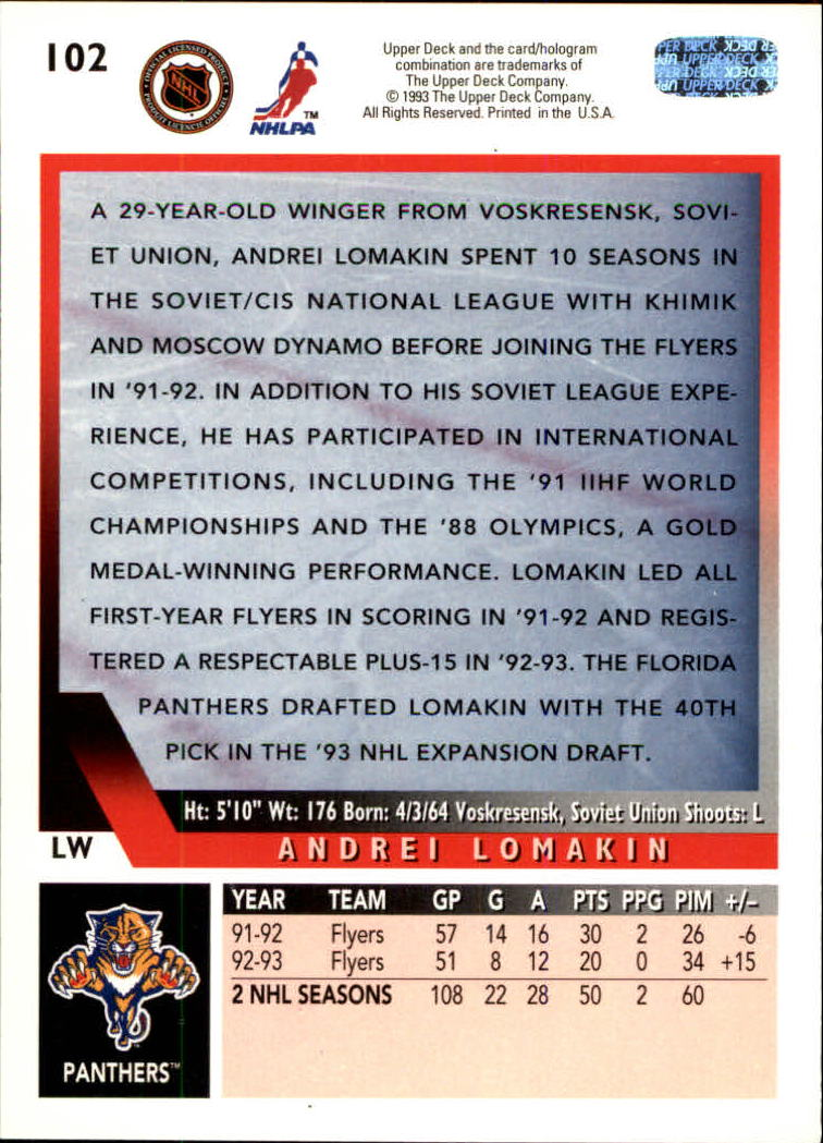1993-94-Upper-Deck-Hk-039-s-1-250-Rookies-You-Pick-Buy-10-cards-FREE-SHIP thumbnail 81