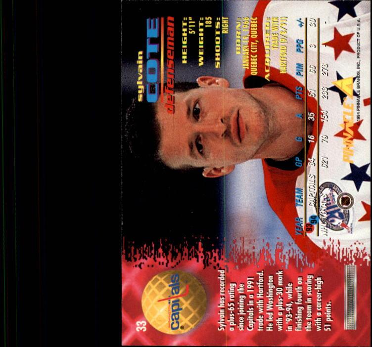 1994-95 Pinnacle Hk Card #s 1-250 +Rookies (A0112)