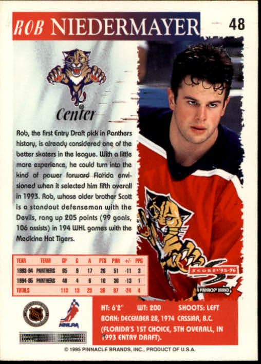1995-96-Score-Hockey-Card-s-1-250-Rookies-A1270-You-Pick-10-FREE-SHIP thumbnail 95