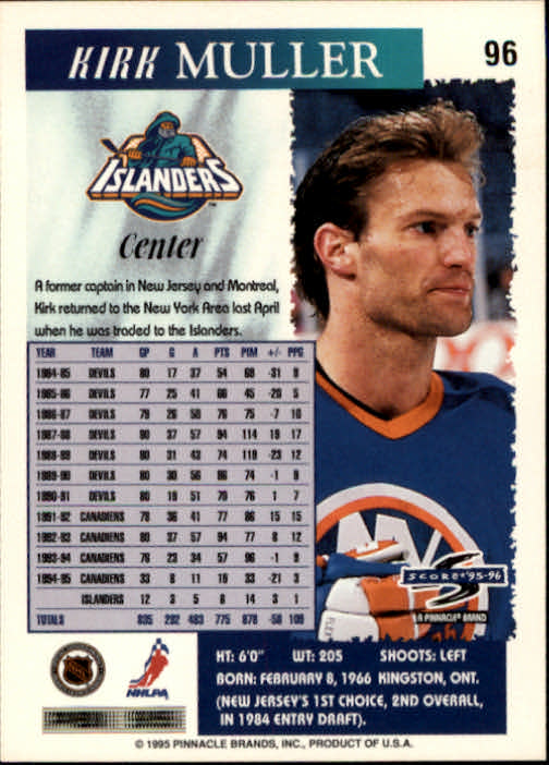 1995-96-Score-Hockey-Card-s-1-250-Rookies-A1270-You-Pick-10-FREE-SHIP thumbnail 185