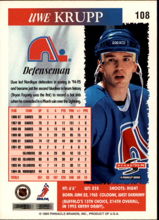 1995-96-Score-Hockey-Card-s-1-250-Rookies-A1270-You-Pick-10-FREE-SHIP thumbnail 209
