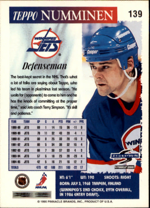 1995-96-Score-Hockey-Card-s-1-250-Rookies-A1270-You-Pick-10-FREE-SHIP thumbnail 271