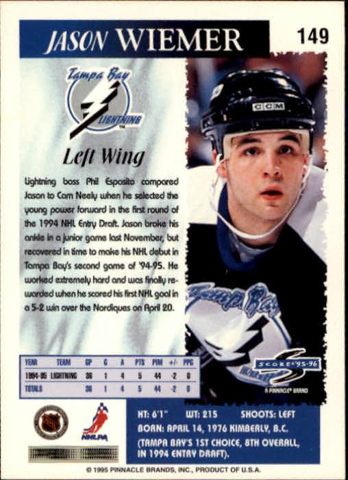 1995-96-Score-Hockey-Card-s-1-250-Rookies-A1270-You-Pick-10-FREE-SHIP thumbnail 291