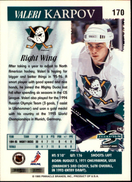 1995-96-Score-Hockey-Card-s-1-250-Rookies-A1270-You-Pick-10-FREE-SHIP thumbnail 333