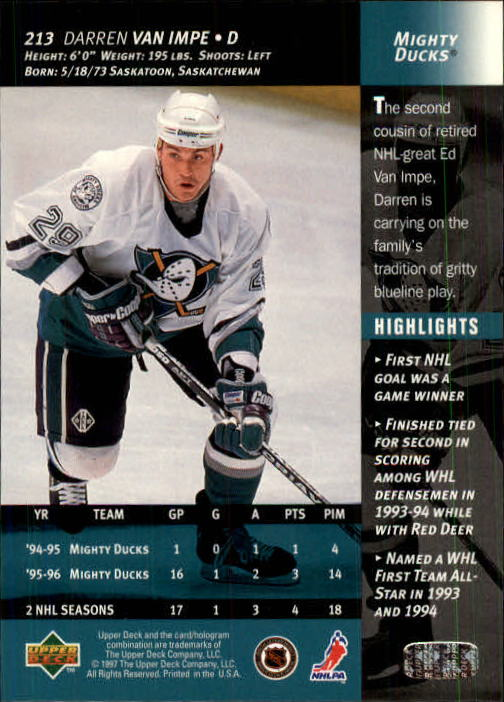 1996-97-Upper-Deck-Hk-Cards-201-390-Rookies-A2298-You-Pick-10-FREE-SHIP thumbnail 23