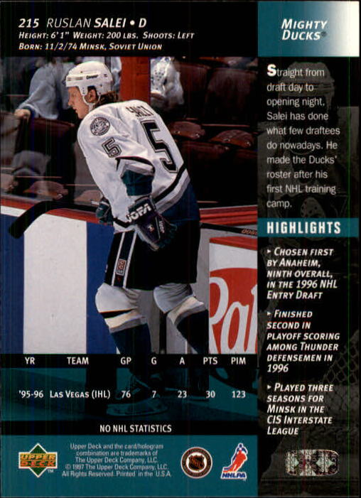 1996-97-Upper-Deck-Hk-Cards-201-390-Rookies-A2298-You-Pick-10-FREE-SHIP thumbnail 27