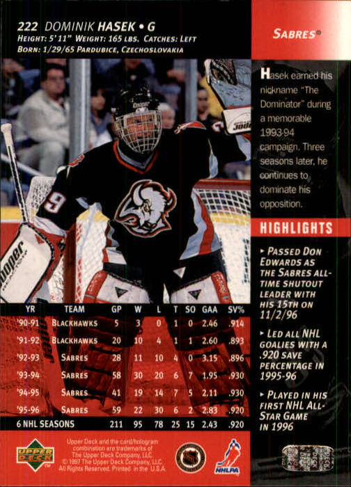 1996-97-Upper-Deck-Hk-Cards-201-390-Rookies-A2298-You-Pick-10-FREE-SHIP thumbnail 29