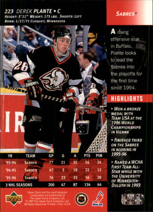 1996-97-Upper-Deck-Hk-Cards-201-390-Rookies-A2298-You-Pick-10-FREE-SHIP thumbnail 31
