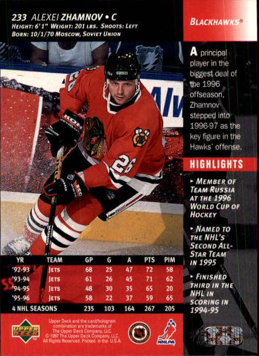1996-97-Upper-Deck-Hk-Cards-201-390-Rookies-A2298-You-Pick-10-FREE-SHIP thumbnail 51