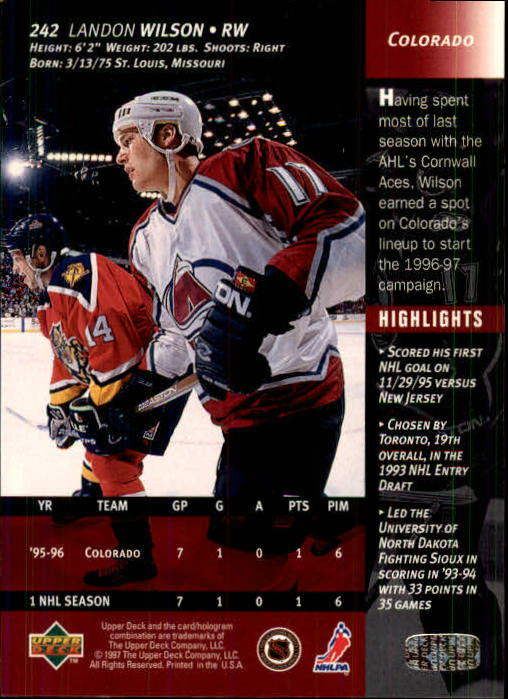 1996-97-Upper-Deck-Hk-Cards-201-390-Rookies-A2298-You-Pick-10-FREE-SHIP thumbnail 69
