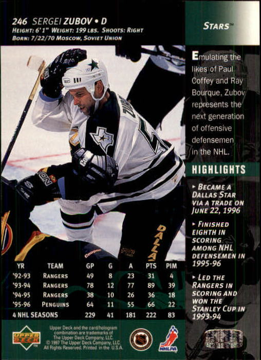 1996-97-Upper-Deck-Hk-Cards-201-390-Rookies-A2298-You-Pick-10-FREE-SHIP thumbnail 75