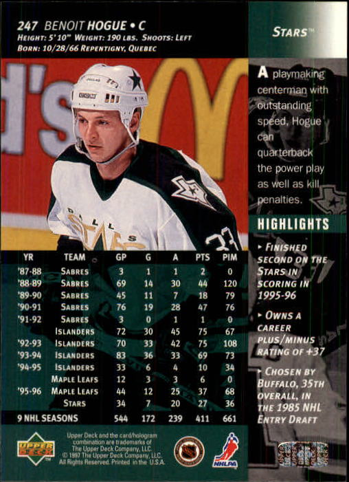 1996-97-Upper-Deck-Hk-Cards-201-390-Rookies-A2298-You-Pick-10-FREE-SHIP thumbnail 77
