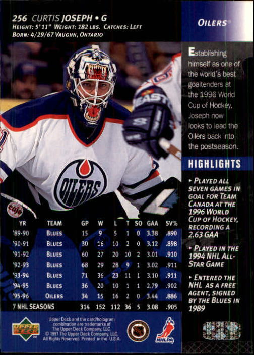 1996-97-Upper-Deck-Hk-Cards-201-390-Rookies-A2298-You-Pick-10-FREE-SHIP thumbnail 93