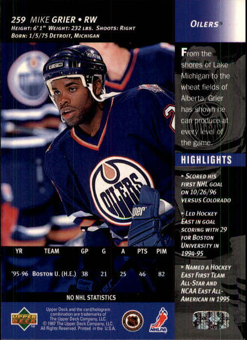 1996-97-Upper-Deck-Hk-Cards-201-390-Rookies-A2298-You-Pick-10-FREE-SHIP thumbnail 97