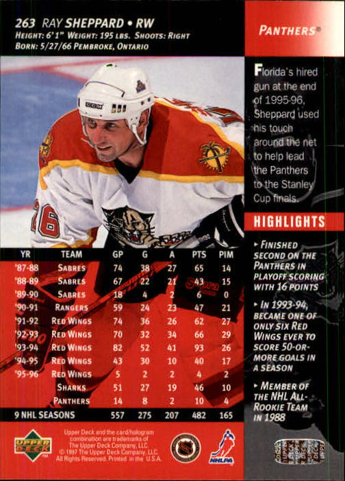 1996-97-Upper-Deck-Hk-Cards-201-390-Rookies-A2298-You-Pick-10-FREE-SHIP thumbnail 105