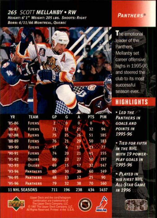 1996-97-Upper-Deck-Hk-Cards-201-390-Rookies-A2298-You-Pick-10-FREE-SHIP thumbnail 109