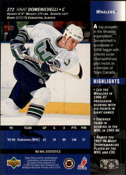 1996-97-Upper-Deck-Hk-Cards-201-390-Rookies-A2298-You-Pick-10-FREE-SHIP thumbnail 117