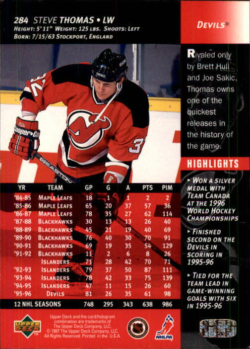 1996-97-Upper-Deck-Hk-Cards-201-390-Rookies-A2298-You-Pick-10-FREE-SHIP thumbnail 139
