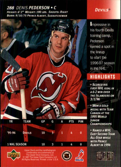 1996-97-Upper-Deck-Hk-Cards-201-390-Rookies-A2298-You-Pick-10-FREE-SHIP thumbnail 147