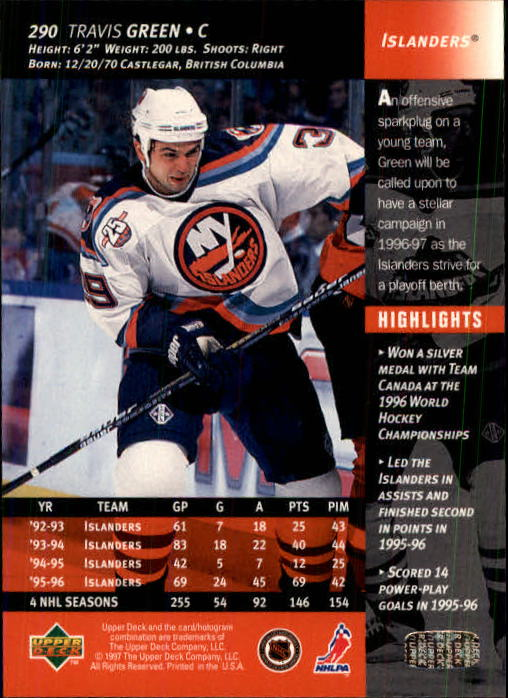 1996-97-Upper-Deck-Hk-Cards-201-390-Rookies-A2298-You-Pick-10-FREE-SHIP thumbnail 151