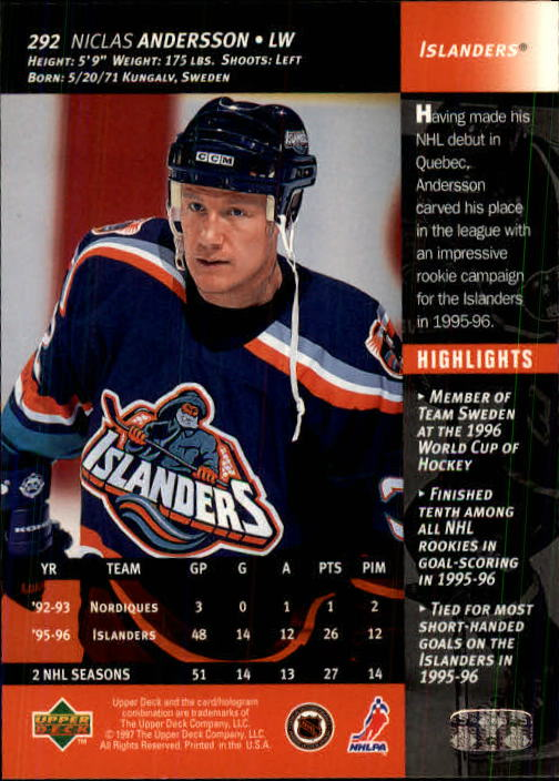 1996-97-Upper-Deck-Hk-Cards-201-390-Rookies-A2298-You-Pick-10-FREE-SHIP thumbnail 155