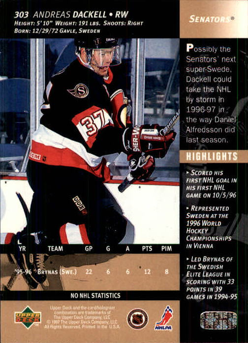 1996-97-Upper-Deck-Hk-Cards-201-390-Rookies-A2298-You-Pick-10-FREE-SHIP thumbnail 173