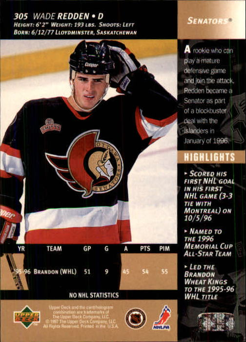 1996-97-Upper-Deck-Hk-Cards-201-390-Rookies-A2298-You-Pick-10-FREE-SHIP thumbnail 177