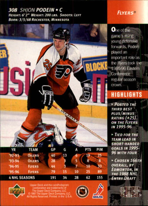 1996-97-Upper-Deck-Hk-Cards-201-390-Rookies-A2298-You-Pick-10-FREE-SHIP thumbnail 183