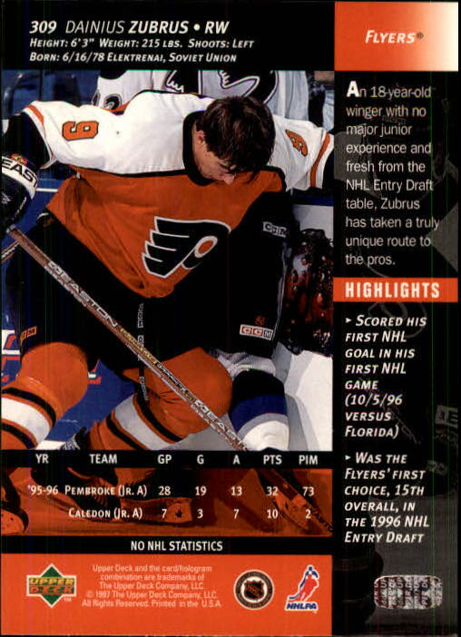 1996-97-Upper-Deck-Hk-Cards-201-390-Rookies-A2298-You-Pick-10-FREE-SHIP thumbnail 185