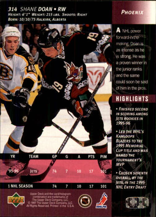 1996-97-Upper-Deck-Hk-Cards-201-390-Rookies-A2298-You-Pick-10-FREE-SHIP thumbnail 195