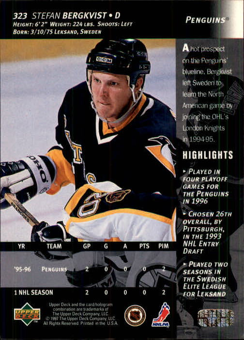 1996-97-Upper-Deck-Hk-Cards-201-390-Rookies-A2298-You-Pick-10-FREE-SHIP thumbnail 207