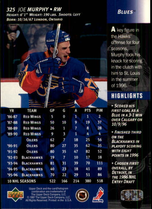 1996-97-Upper-Deck-Hk-Cards-201-390-Rookies-A2298-You-Pick-10-FREE-SHIP thumbnail 211