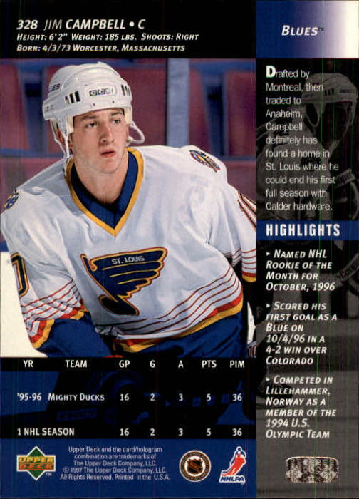1996-97-Upper-Deck-Hk-Cards-201-390-Rookies-A2298-You-Pick-10-FREE-SHIP thumbnail 217